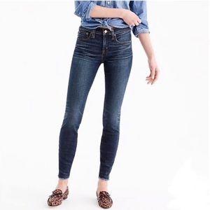 J Crew Frayed Hem Ankle Skinny Jeans Size 25 Blue